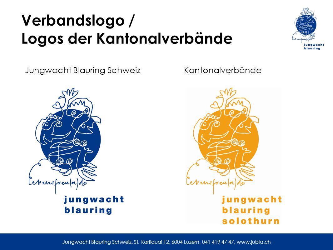 Verbandslogo / Logos der Kantonalverbände Jungwacht Blauring SchweizKantonalverbände Jungwacht Blauring Schweiz, St.