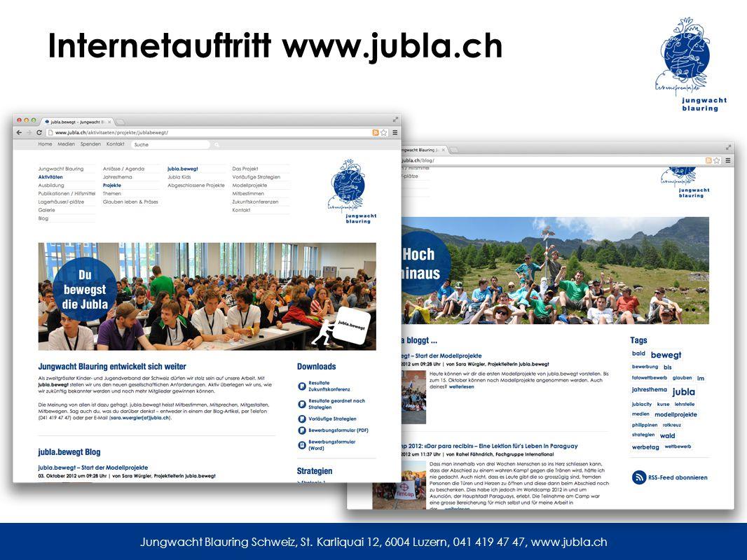 Internetauftritt www.jubla.ch Jungwacht Blauring Schweiz, St.