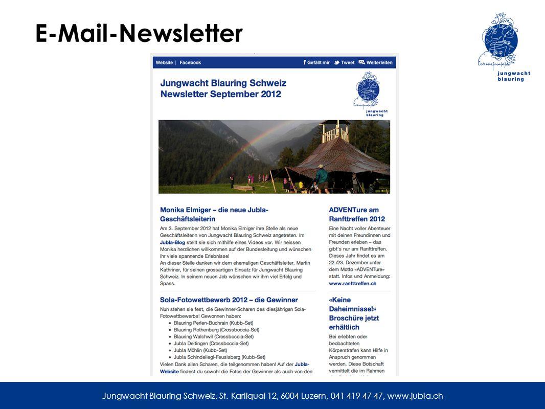 E-Mail-Newsletter Jungwacht Blauring Schweiz, St.