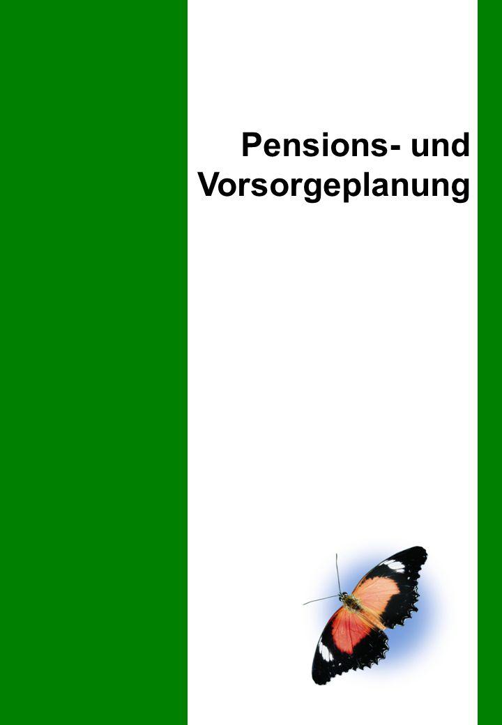 Pensions- & Vorsorgeplanung – Die zentralen Kriterien ErwerbsausfallInvaliditätTodesfallAlter Krankheit UnfallKrankheit UnfallKrankheit Unfall IV AHV BVG UVG KKVUVG Übersicht Vorsorgeplanung Pensionsplanung  Zeitpunkt der Pensionierung  Leistungen 1.