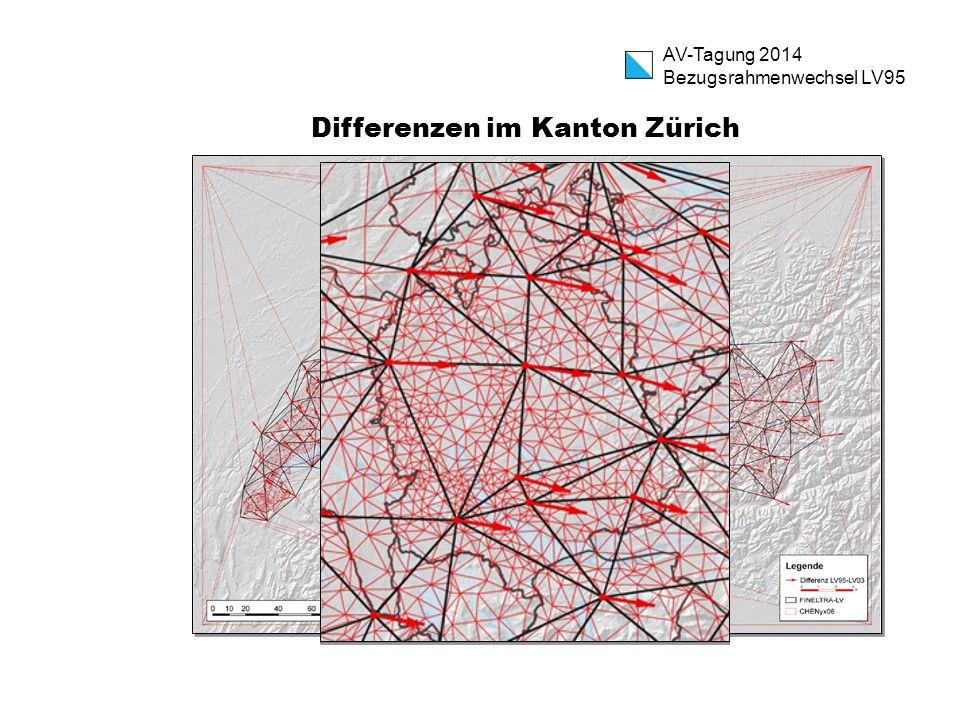 Differenzen im Kanton Zürich AV-Tagung 2014 Bezugsrahmenwechsel LV95