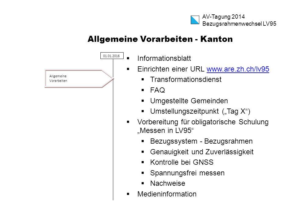 Allgemeine Vorarbeiten - Kanton  Informationsblatt  Einrichten einer URL www.are.zh.ch/lv95www.are.zh.ch/lv95  Transformationsdienst  FAQ  Umgest