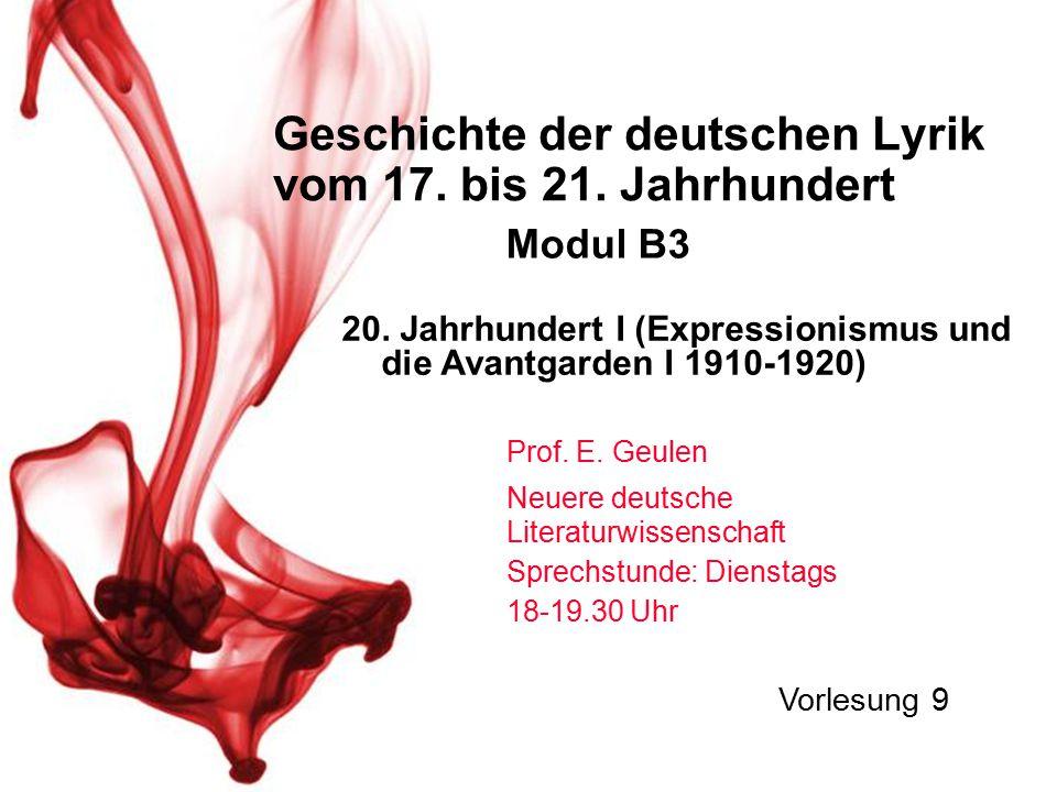 1.Rekapitulation 2. Georg Heym und Gottfried Benn 3.