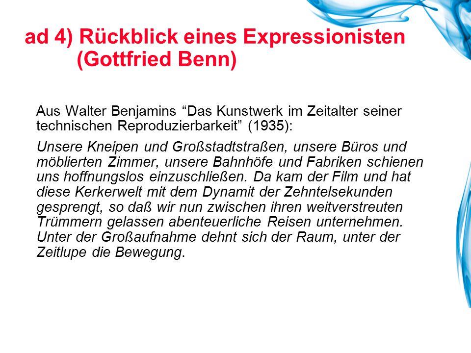 """Aus Walter Benjamins """"Das Kunstwerk im Zeitalter seiner technischen Reproduzierbarkeit"""" (1935): Unsere Kneipen und Großstadtstraßen, unsere Büros und"""
