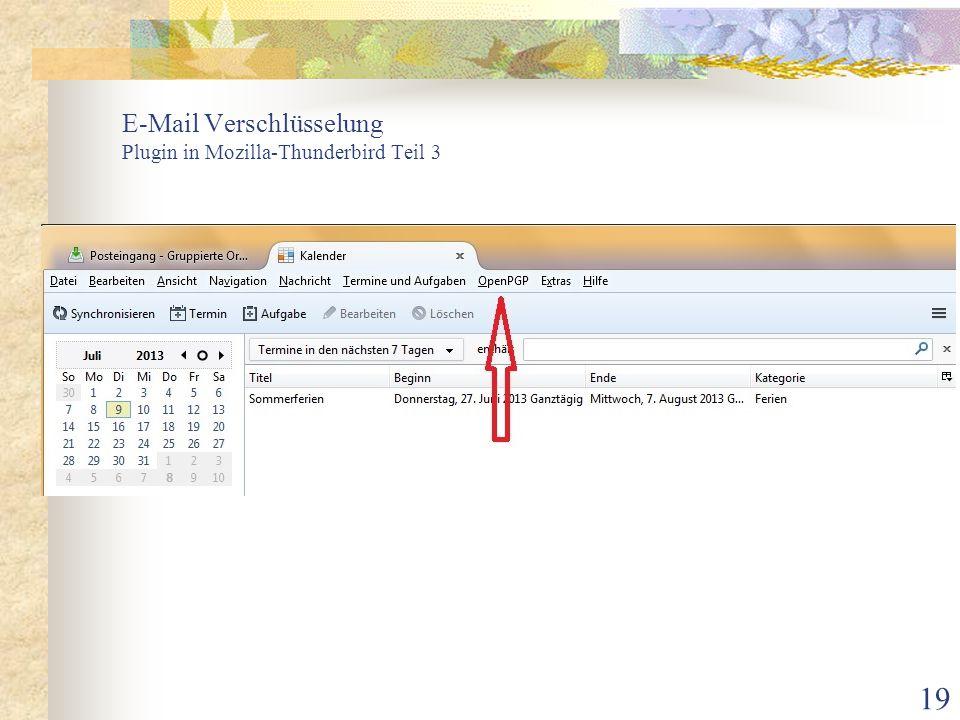 19 E-Mail Verschlüsselung Plugin in Mozilla-Thunderbird Teil 3