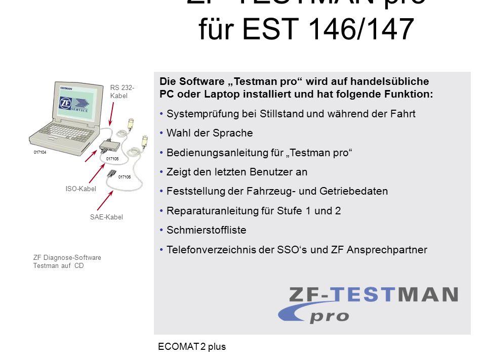 """Die Software """"Testman pro"""" wird auf handelsübliche PC oder Laptop installiert und hat folgende Funktion: Systemprüfung bei Stillstand und während der"""