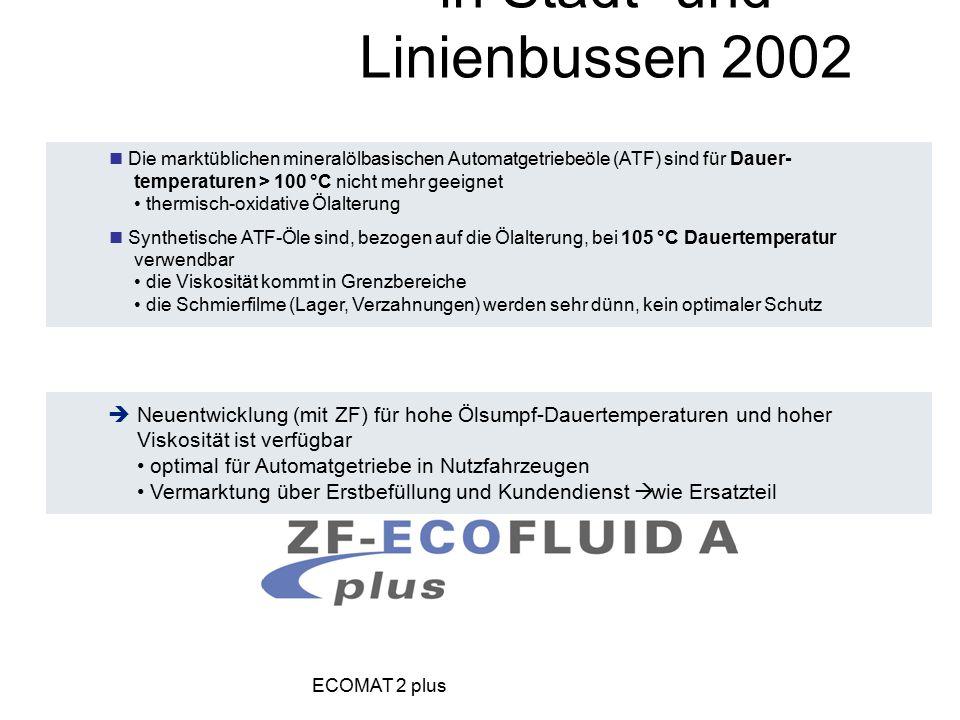 Die marktüblichen mineralölbasischen Automatgetriebeöle (ATF) sind für Dauer- temperaturen > 100 °C nicht mehr geeignet thermisch-oxidative Ölalterung