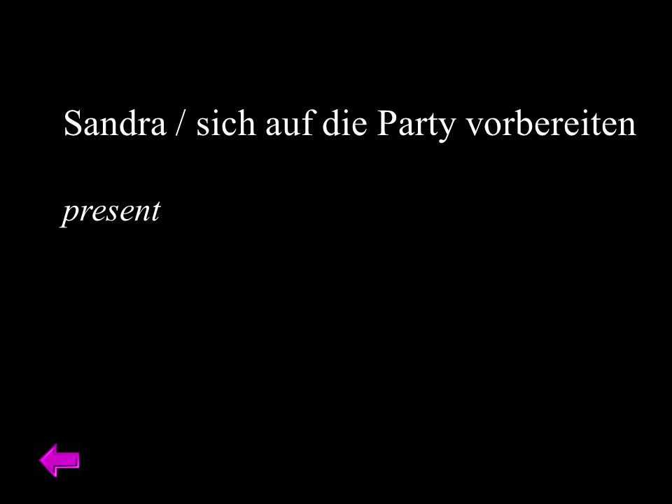 Sandra / sich auf die Party vorbereiten present