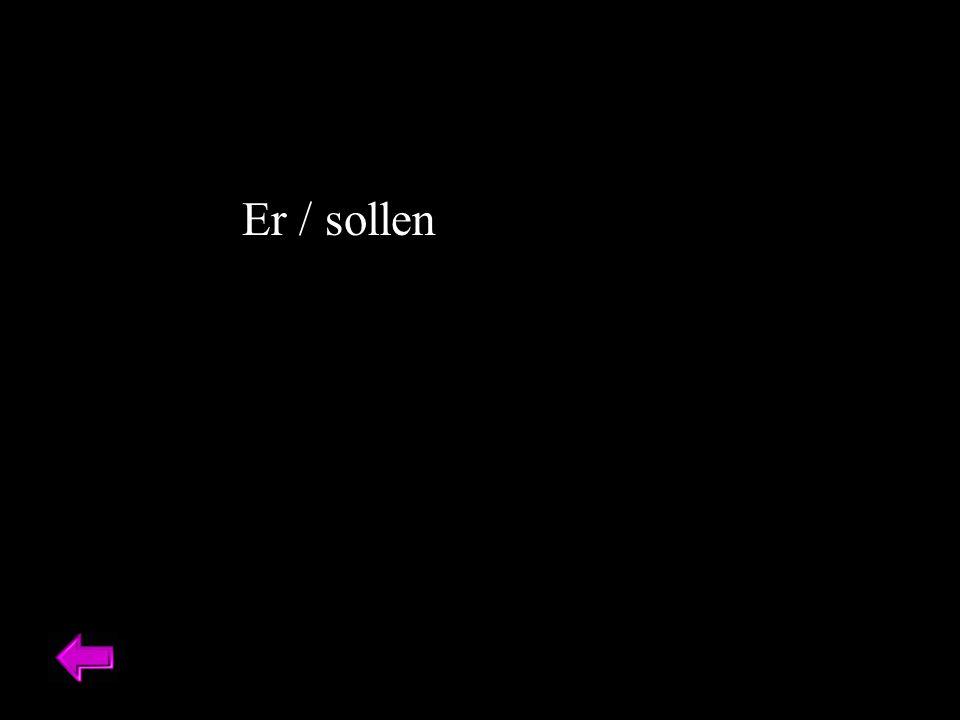 Er / sollen