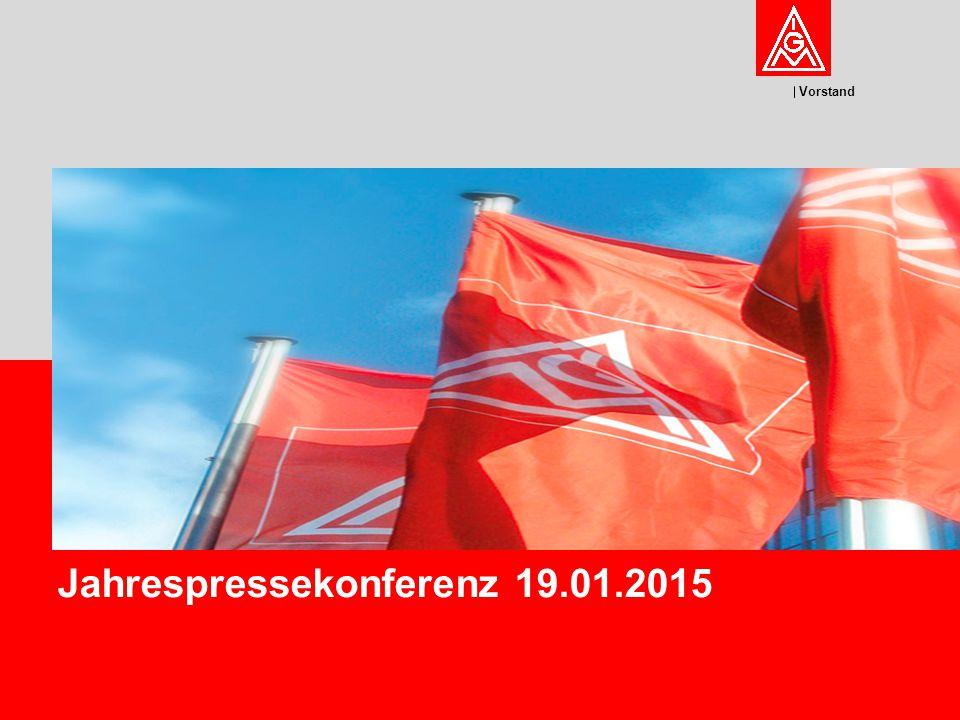 Vorstand Jahrespressekonferenz 19.01.2015