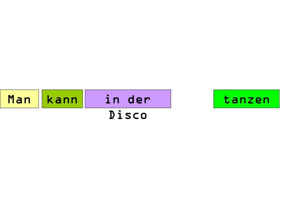 Man kann in der tanzen Disco