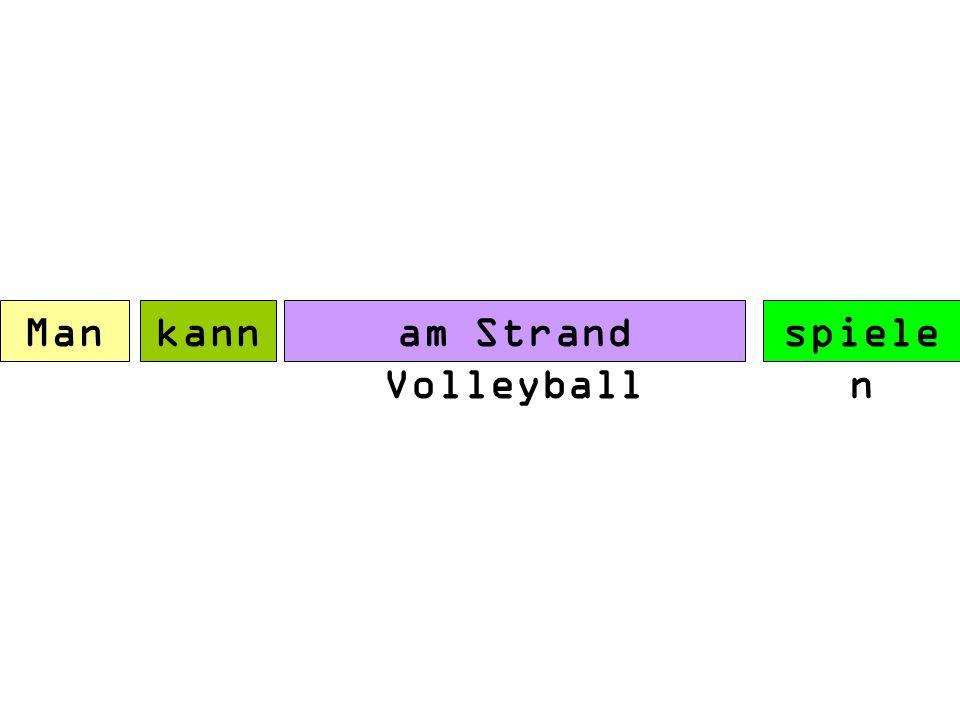 Man kann am spielen Strand Volleybal l