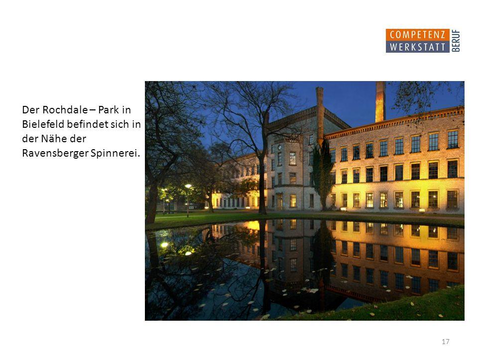 Der Rochdale – Park in Bielefeld befindet sich in der Nähe der Ravensberger Spinnerei. 17