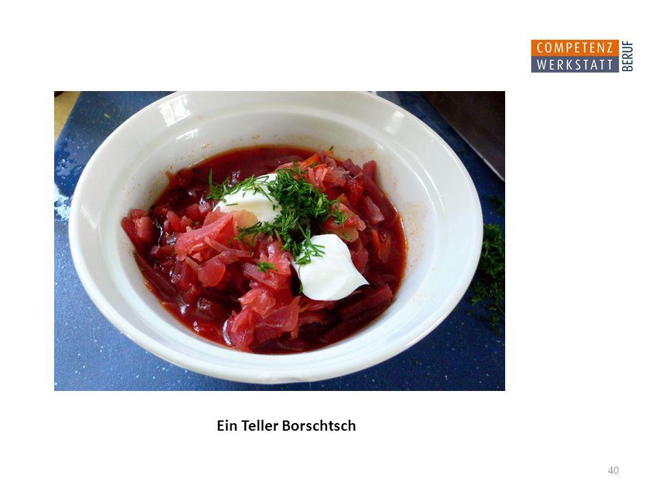 40 Ein Teller Borschtsch