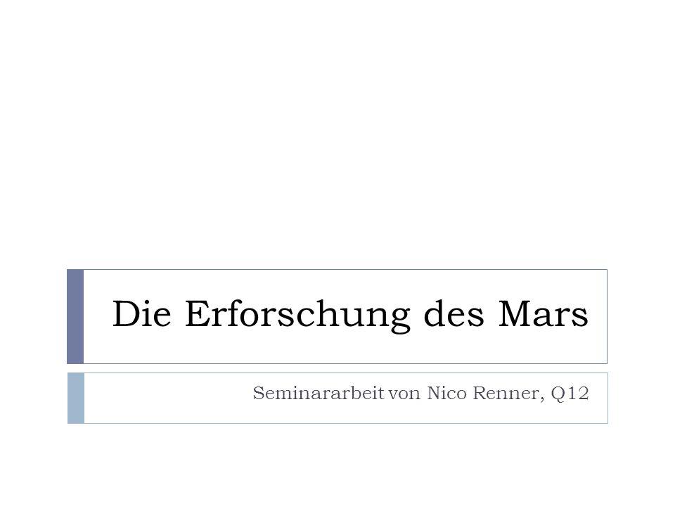 2.3 …im Zeitalter der Raumfahrt 2.3.3 Aktuelle Marserforschung Mars Exploration Rover (2003) Spirit und Opportunity Roboterarm Experimente Mikroskopkamera Mössbauer-Spektrometer Alpha-Röntgen Spektrometer 250000 Bilder Entdeckung von Indizien für ehemalige Salzwasserbestände Kein Kontakt zu Spirit, Opportunity weiter aktiv
