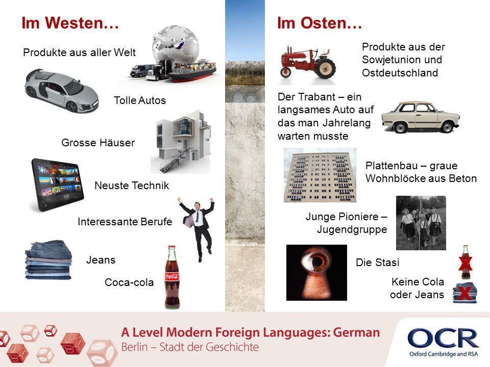 Du wohnst in Westdeutschland – beschreib dein Leben und deine Zukunftschancen.