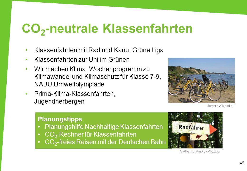 CO 2 -neutrale Klassenfahrten 45 Klassenfahrten mit Rad und Kanu, Grüne Liga Klassenfahrten zur Uni im Grünen Wir machen Klima, Wochenprogramm zu Klim