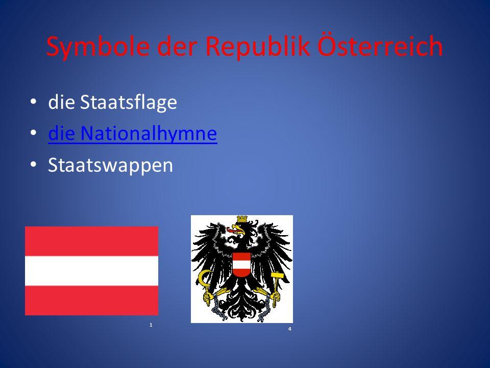 Symbole der Republik Österreich die Staatsflage die Nationalhymne Staatswappen 4 1