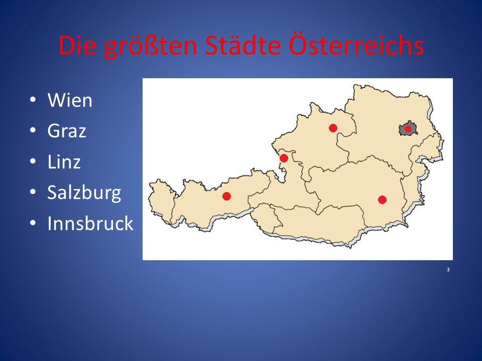 Die größten Städte Österreichs Wien Graz Linz Salzburg Innsbruck 3