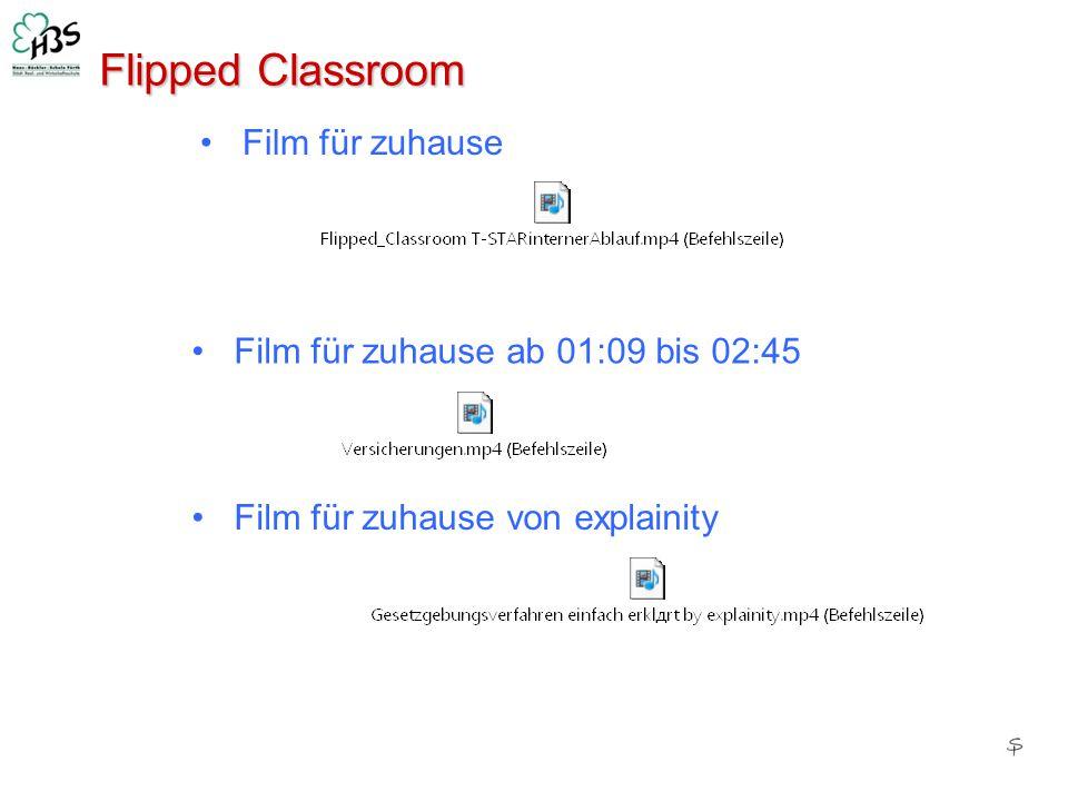 Flipped Classroom Film für zuhause Film für zuhause ab 01:09 bis 02:45 Film für zuhause von explainity