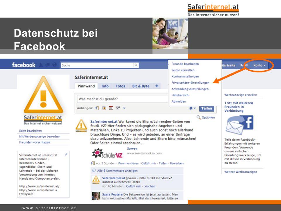 Datenschutz bei Facebook