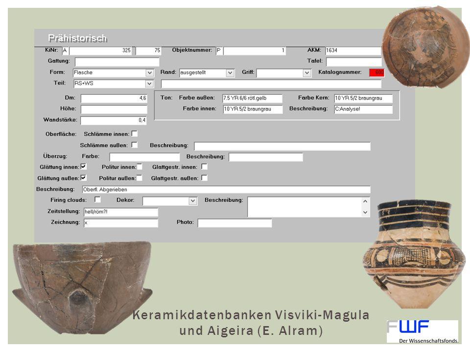 Keramikdatenbanken Visviki-Magula und Aigeira (E. Alram)