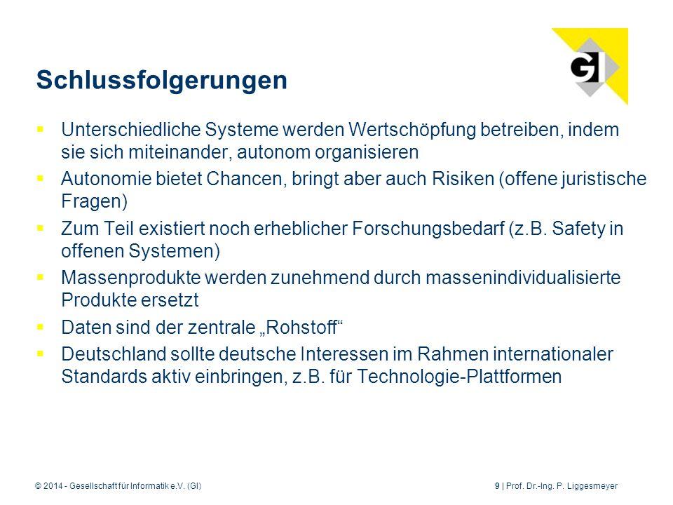 © 2014 - Gesellschaft für Informatik e.V.(GI)9 | Prof.