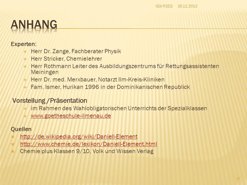 Experten:  Herr Dr.