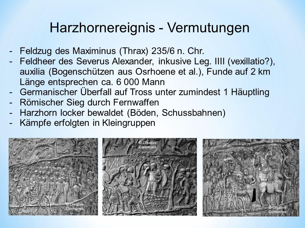Harzhornereignis - Vermutungen -Feldzug des Maximinus (Thrax) 235/6 n.