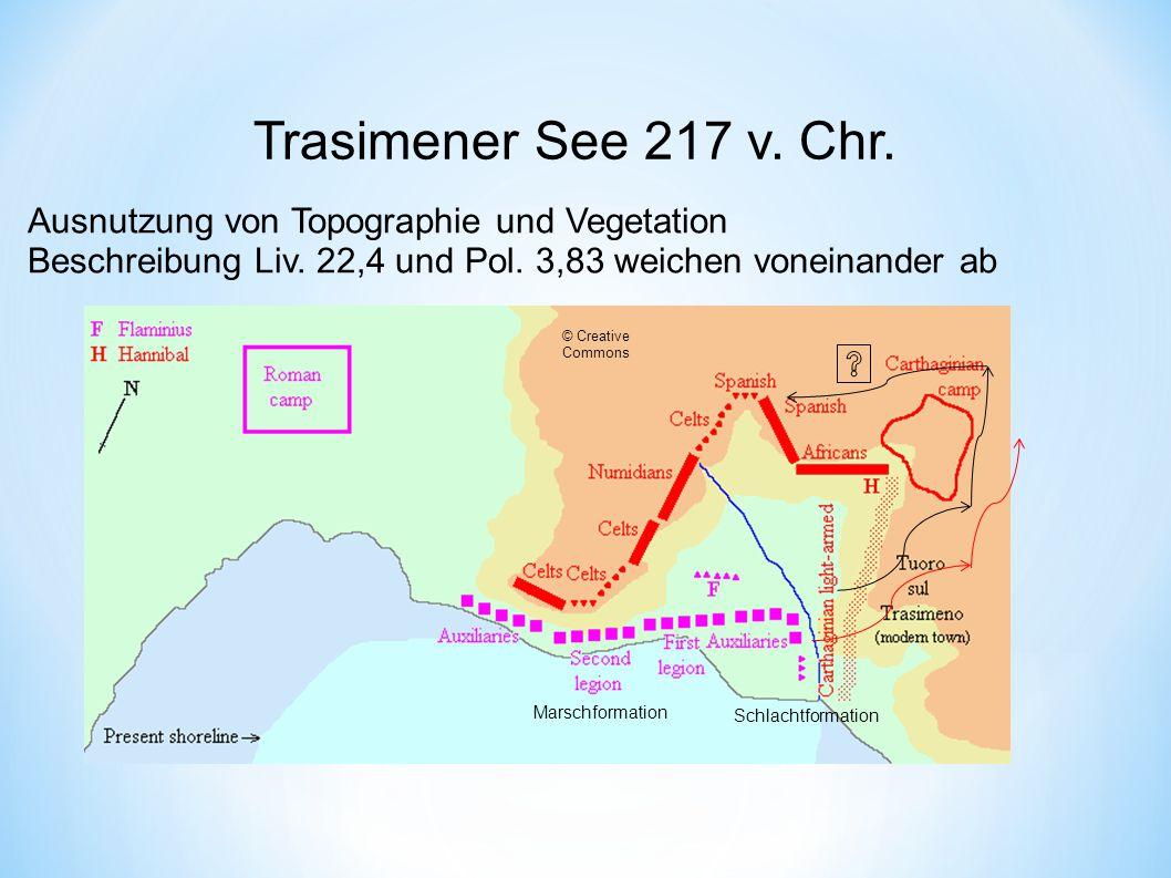 Trasimener See 217 v.Chr. Ausnutzung von Topographie und Vegetation Beschreibung Liv.