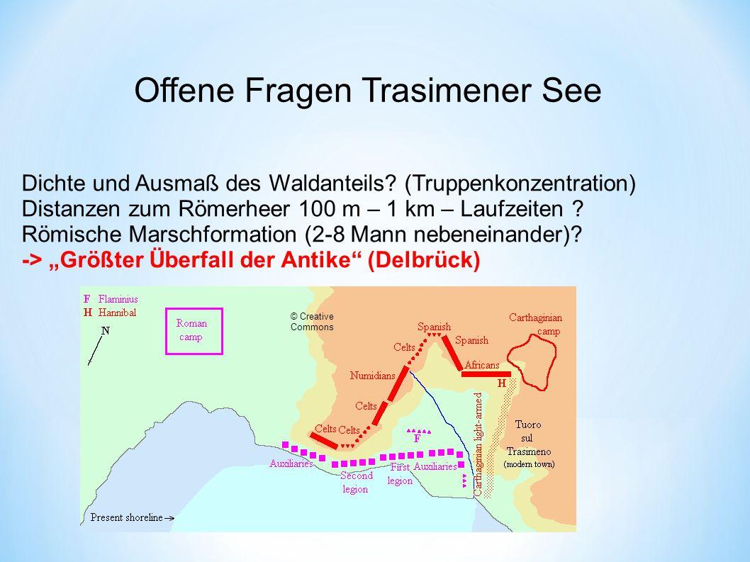 Offene Fragen Trasimener See Dichte und Ausmaß des Waldanteils.