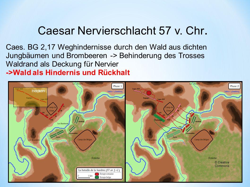Caesar Nervierschlacht 57 v.Chr. © Creative Commons Caes.