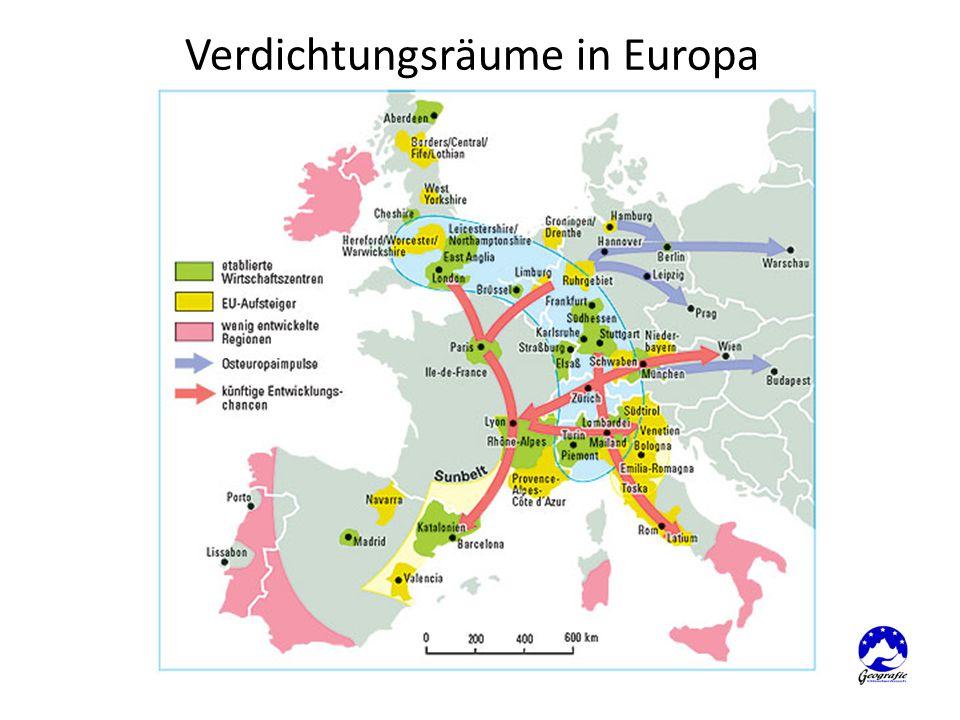 Verdichtungsräume in Europa