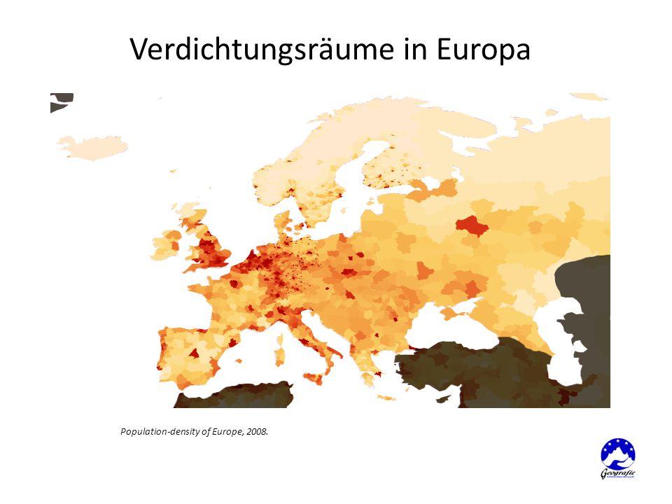 Population-density of Europe, 2008.