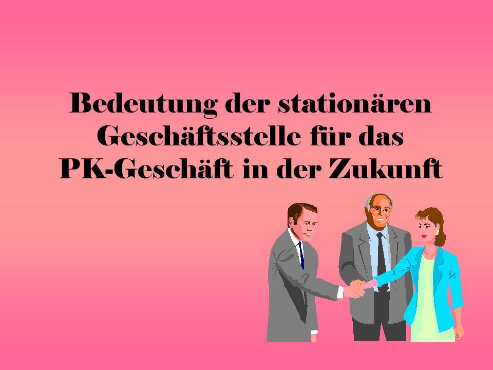 Bedeutung der stationären Geschäftsstelle für das PK-Geschäft in der Zukunft
