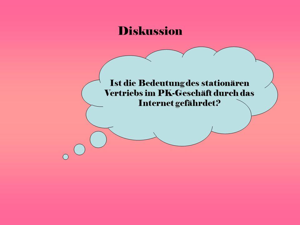 Ist die Bedeutung des stationären Vertriebs im PK-Geschäft durch das Internet gefährdet Diskussion