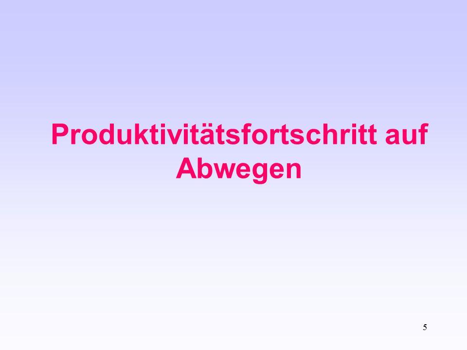 5 Produktivitätsfortschritt auf Abwegen