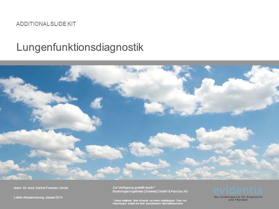 Dynamische versus statische Lungenvolumina 2. Messgrössen LUNGENFUNKTIONSDIAGNOSTIK 12