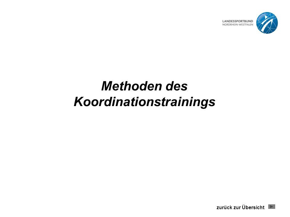Methoden des Koordinationstrainings zurück zur Übersicht