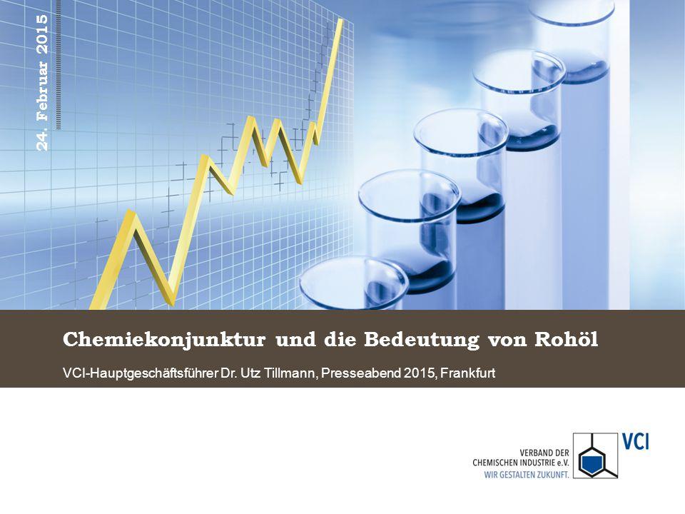 Kaum Wachstum im Chemiegeschäft im Jahr 2014 Chemieproduktion (inkl.
