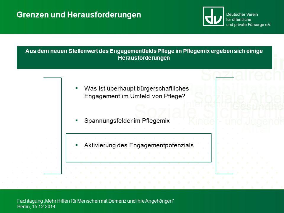 """Fachtagung """"Mehr Hilfen für Menschen mit Demenz und ihre Angehörigen"""" Berlin, 15.12.2014 Grenzen und Herausforderungen  Was ist überhaupt bürgerschaf"""