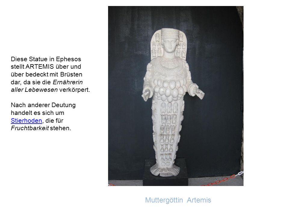 Der Prachtbau aus weißem Marmor bildete den Mittelpunkt der reichen Stadt Ephesus. Er wurde von den Ephesern im Jahre 560 zum größten griechischen Tem