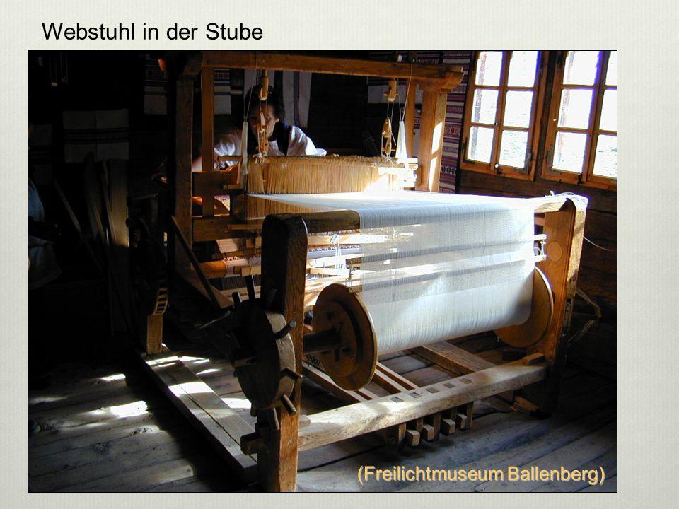 Webstuhl in der Stube 5 (Freilichtmuseum Ballenberg)