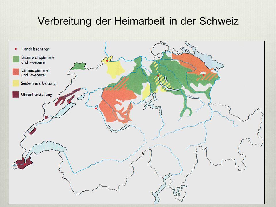 Verbreitung der Heimarbeit in der Schweiz 6