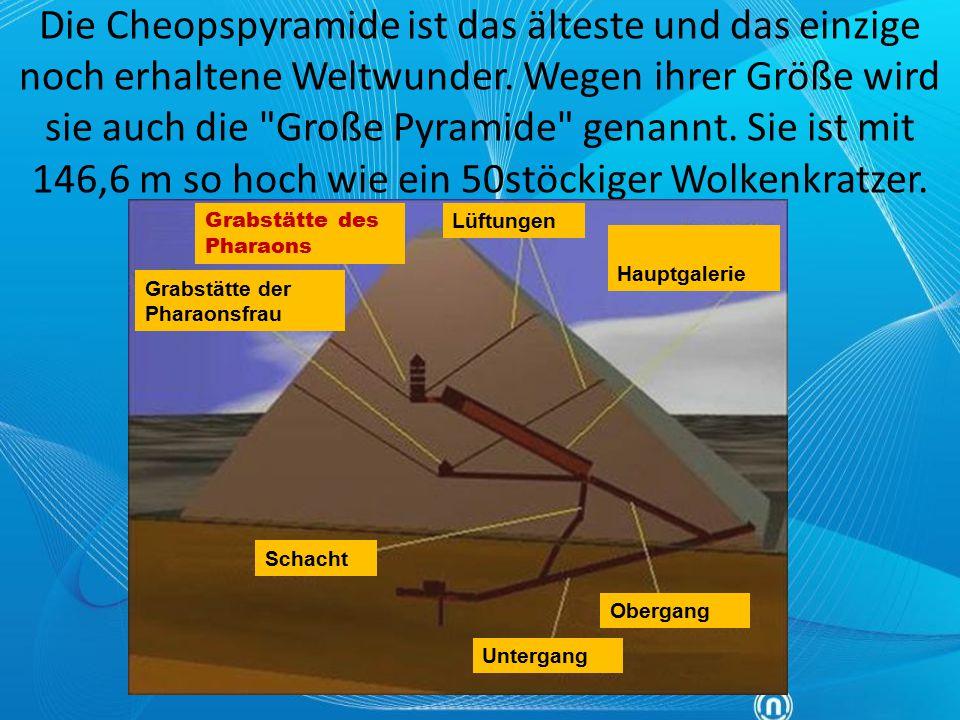 """…über die Pyramiden: """"Es dauerte zehn Jahre, ehe nur die Straße gebaut war, auf der die Steine daher geschleift wurden, ein Werk, das mir fast ebenso gewaltig scheint wie der Bau der Pyramiden selber ."""