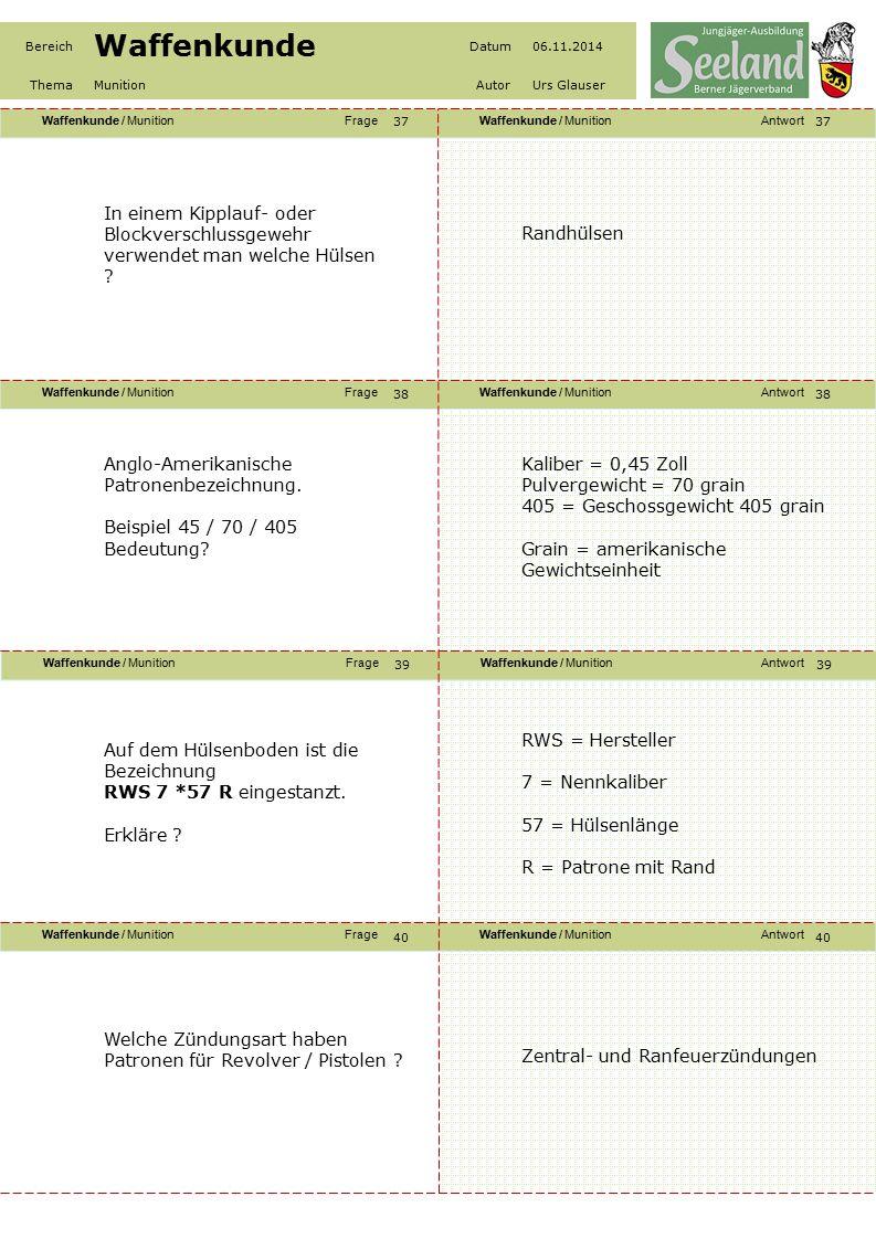 Waffenkunde / MunitionFrageWaffenkunde / MunitionAntwort Waffenkunde / MunitionFrageWaffenkunde / MunitionAntwort Waffenkunde / MunitionFrageWaffenkun