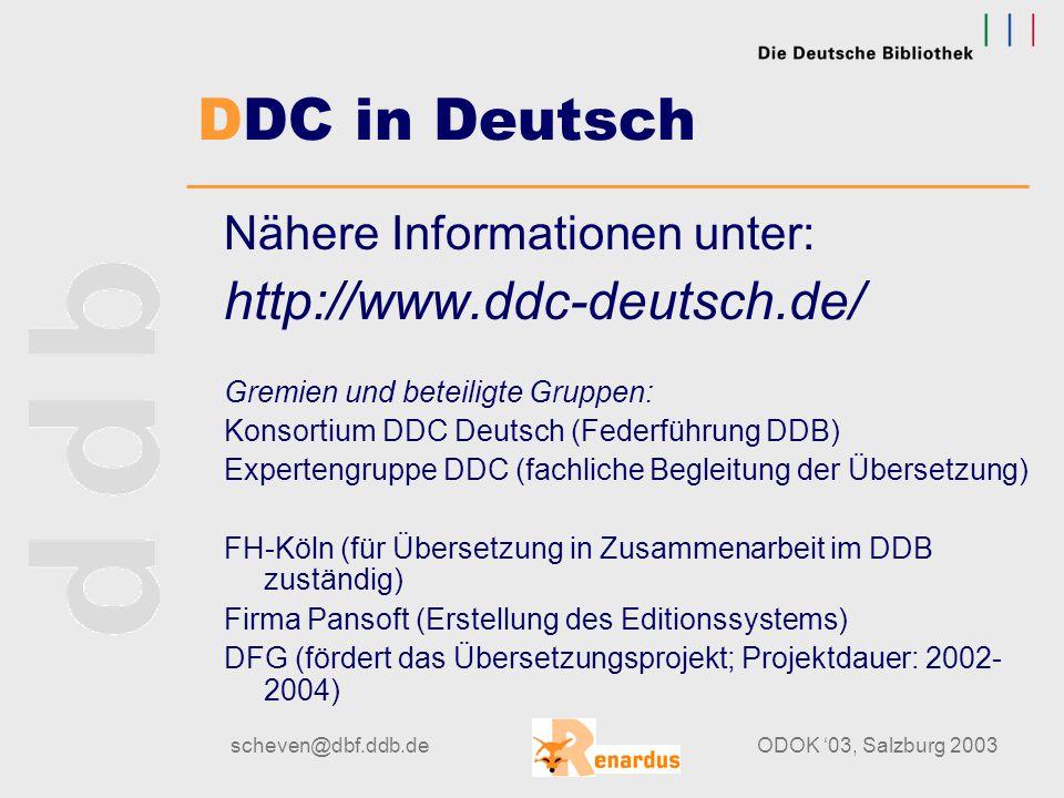 scheven@dbf.ddb.deODOK '03, Salzburg 2003 Beispiel aus der LoC: → 19. Auflage 549.68: Mineralogie von Quarz