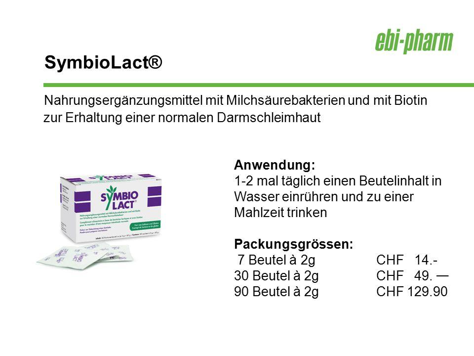 Nahrungsergänzungsmittel mit Milchsäurebakterien und mit Biotin zur Erhaltung einer normalen Darmschleimhaut Anwendung: 1-2 mal täglich einen Beutelin
