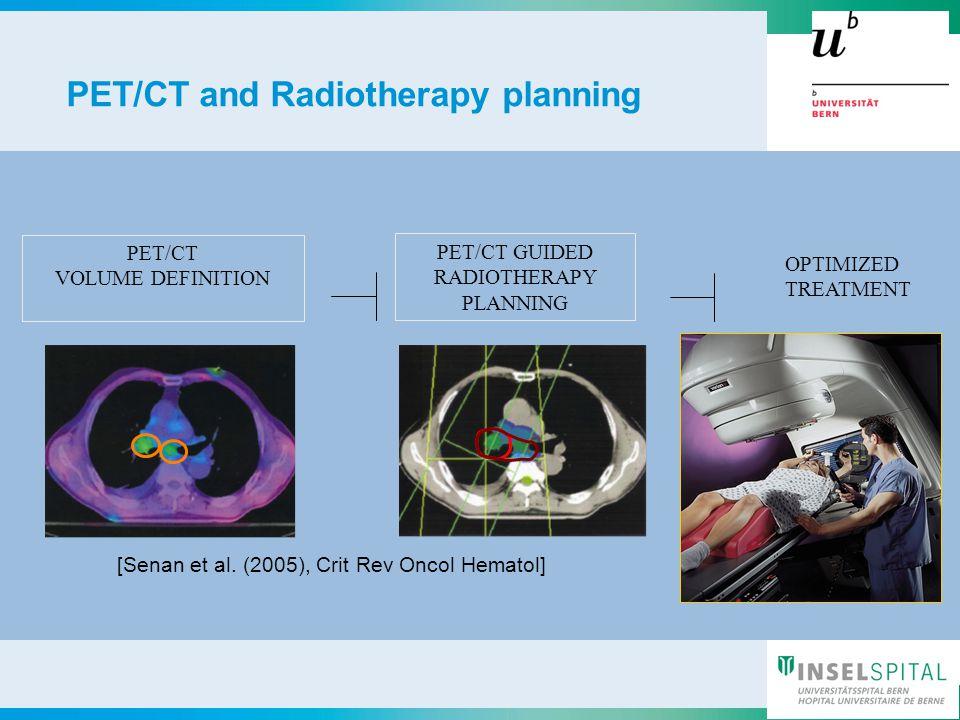 Nuklearmedizin11 Universitätsklinik für Nuklearmedizin 7.11.1311 OPTIMIZED TREATMENT PET/CT VOLUME DEFINITION PET/CT GUIDED RADIOTHERAPY PLANNING [Senan et al.