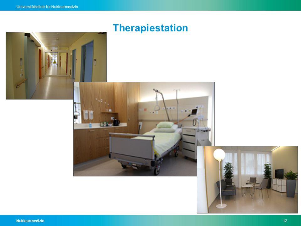 Nuklearmedizin12 Universitätsklinik für Nuklearmedizin Therapiestation